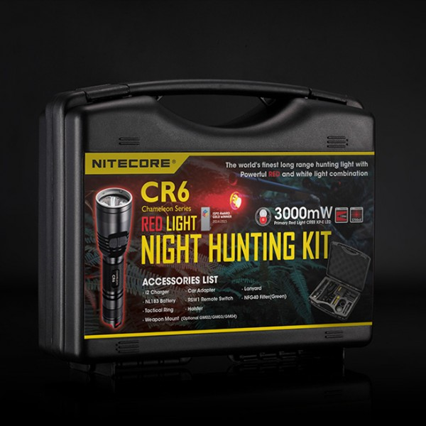 Nitecore CR6 Hunting Kit (CREE XP-G2 led, 440 Lumens) (CR6-Kit)
