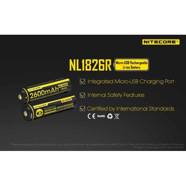 NL1826R 2600mAh 18650 rechargeable li-ion  battery (NL1826R)