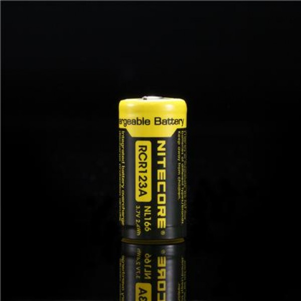 Nitecore NL166 RCR123A Li-ion rechargeable battery 650 mah, protected (RCR123A 3.7v)